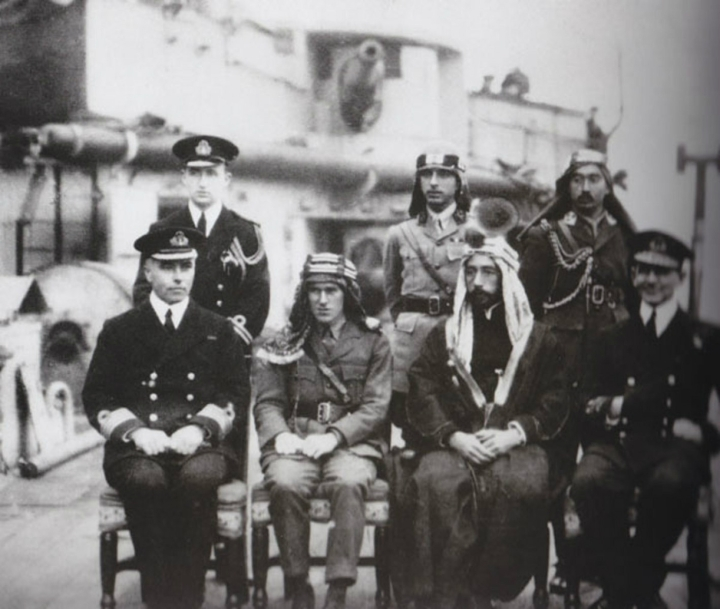 Emir_Faisal__Lt._Colonel_T.E._Lawrence_-_early_1918