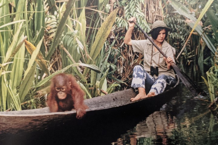 Dr-Galdikas-in-canoe